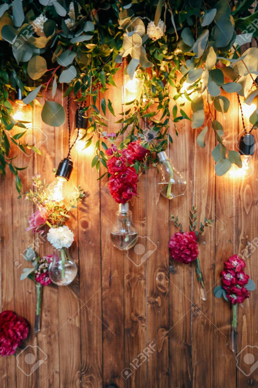 Rustic Wedding Photo Zone Hand Made Wedding Decorations Includes Stock Photo Picture And Royalty Free Image Image 102550607