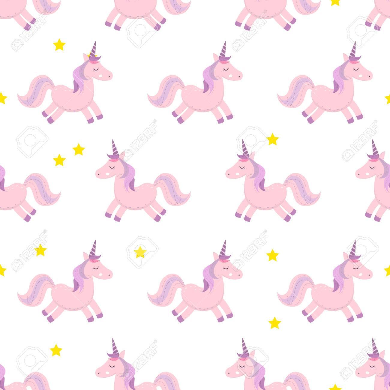 Les Licornes Illustration Vectorielle Motif Sans Couture