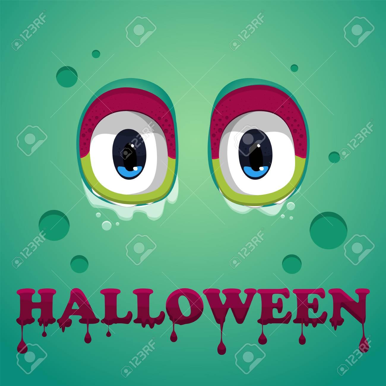 Fundo De Halloween Icone Liso Do Monstro Do Dia Das Bruxas