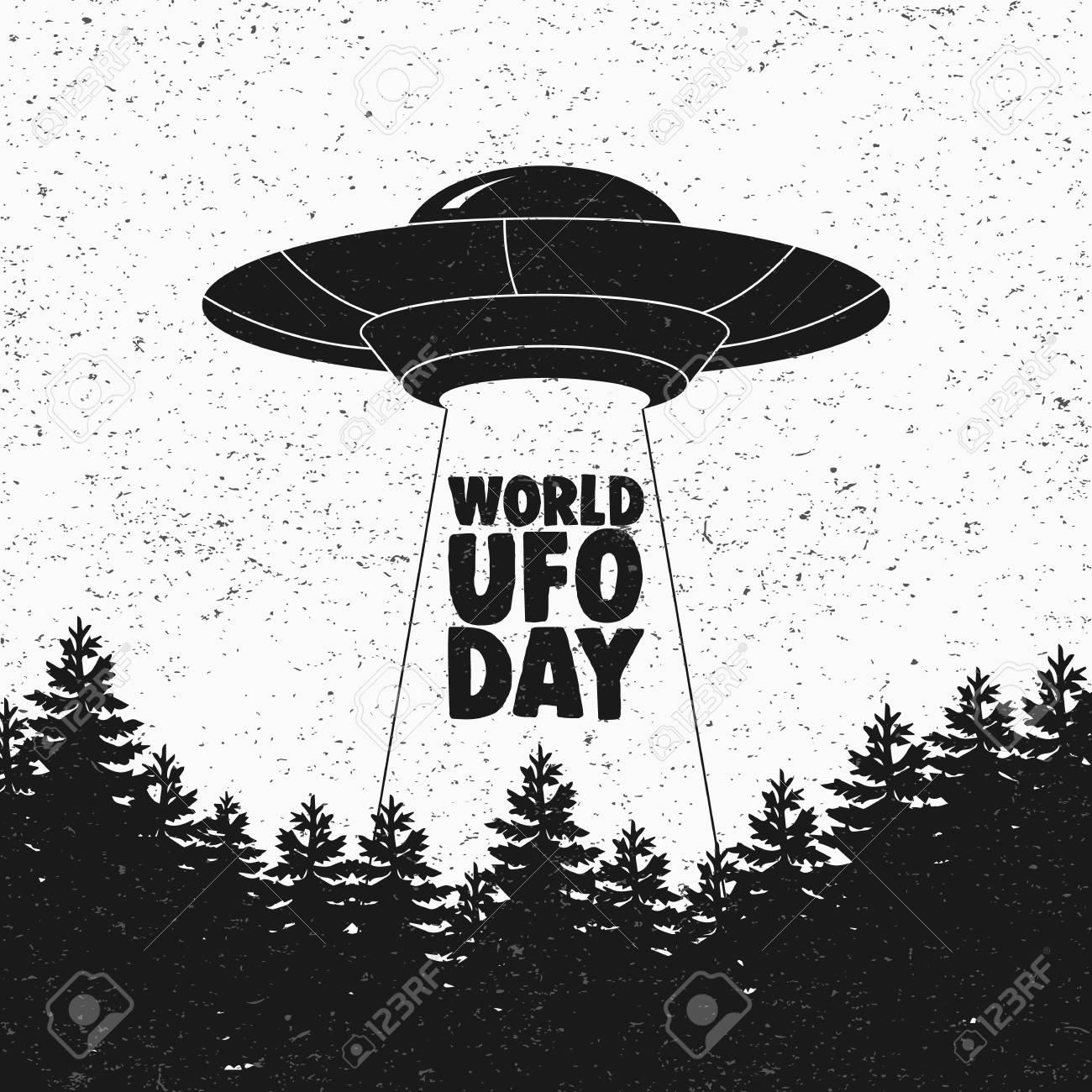 Ufo Flying Spaceship World Ufo Day Flying Saucer Vector Royalty Free Cliparts Vectors And Stock Illustration Image 104878534