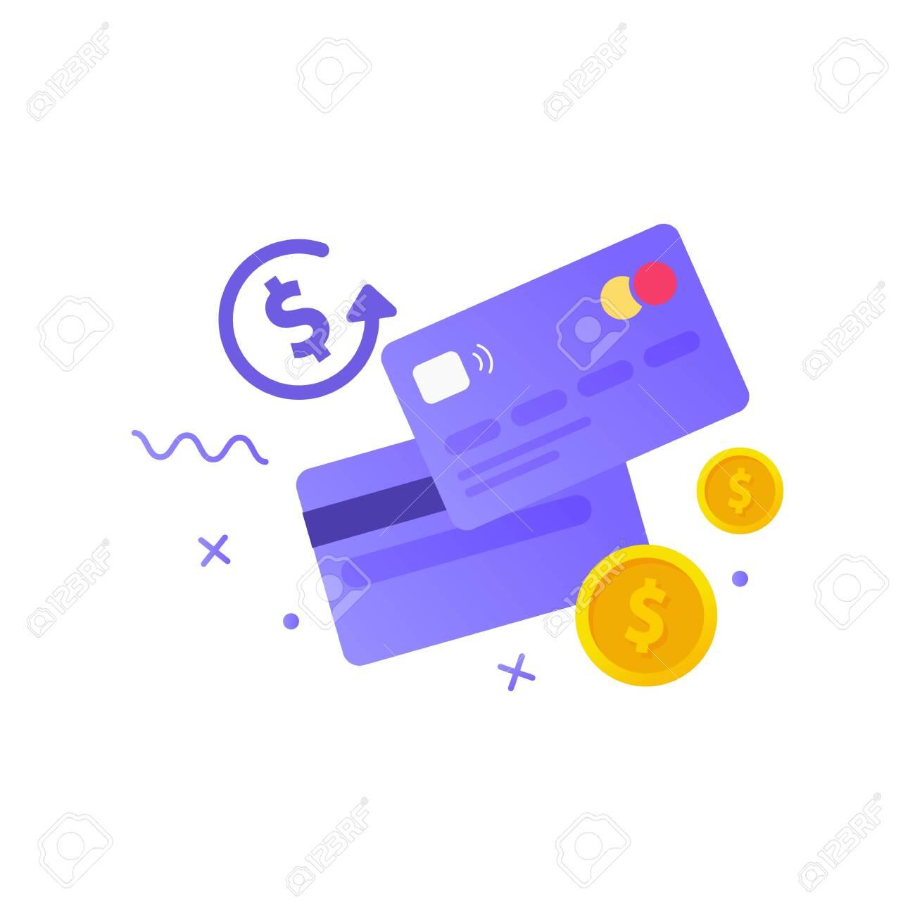 Credit card simple icon. Money. Vector illustration - 148299103