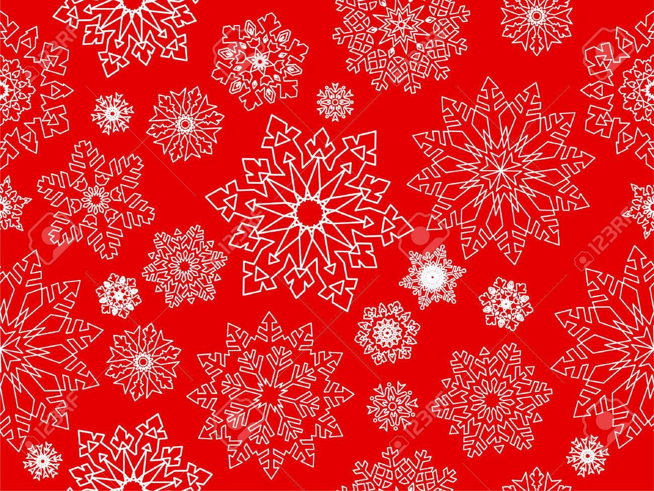 Snowflake seamless background. Stock Vector - 6113221