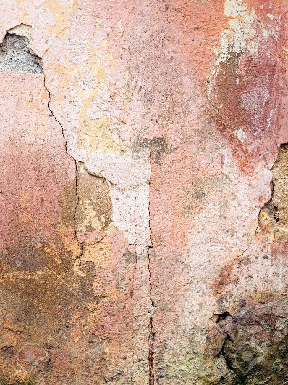 Grunge wall with cracked stucco. Stock Photo - 6599679