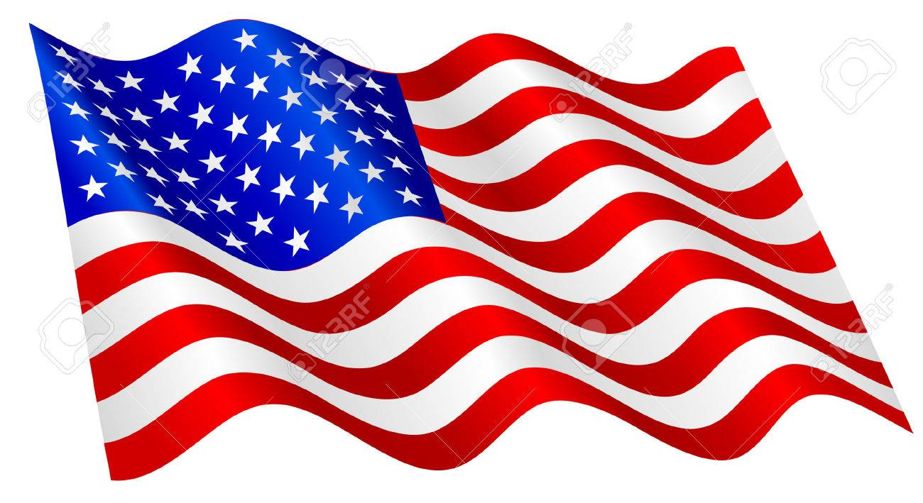 american flag waving royalty free cliparts vectors and stock rh 123rf com usa flag waving vector Waving American Flag 13 Stars