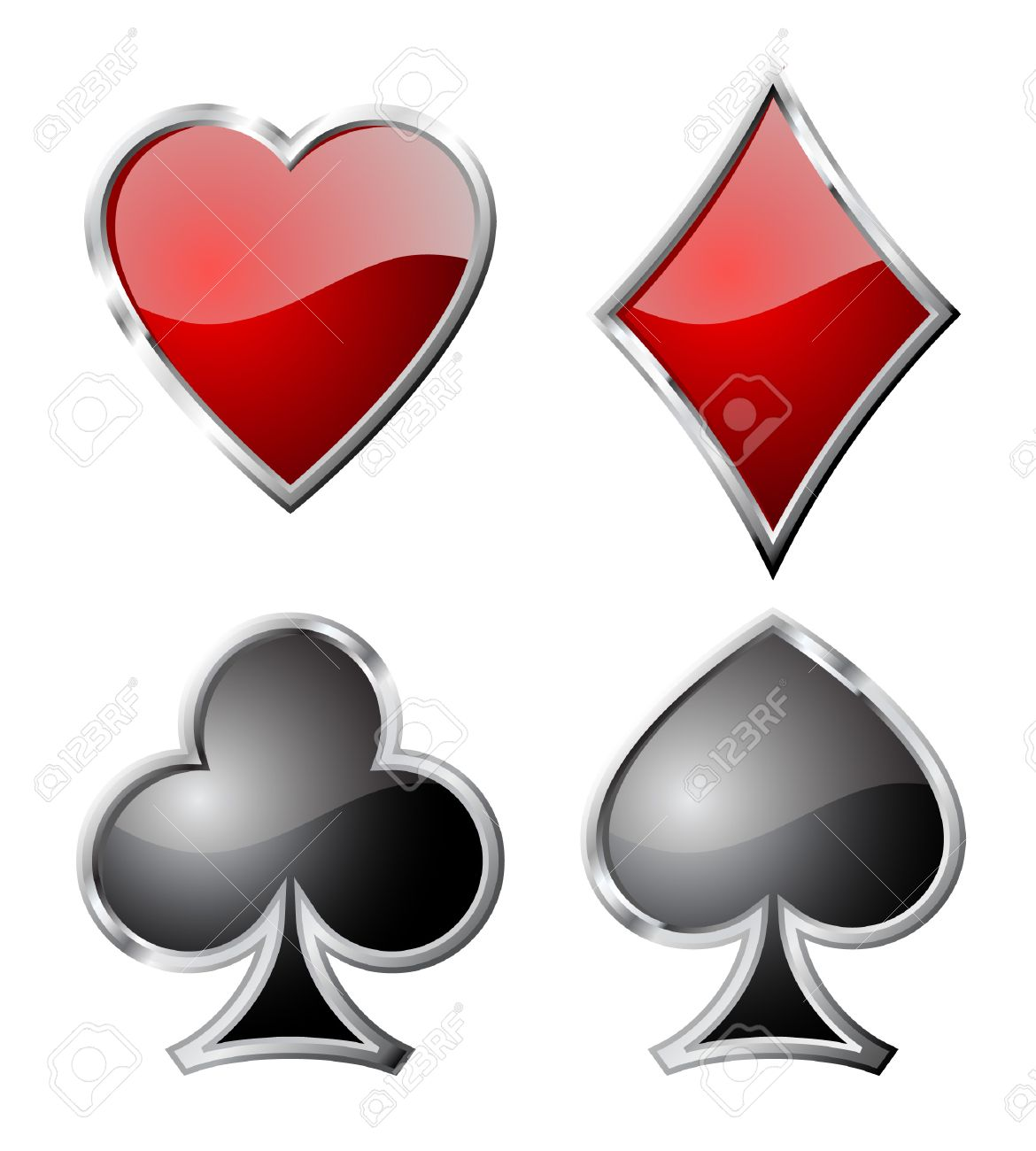Playing card set symbols isolated on white background. Stock Vector - 8538518