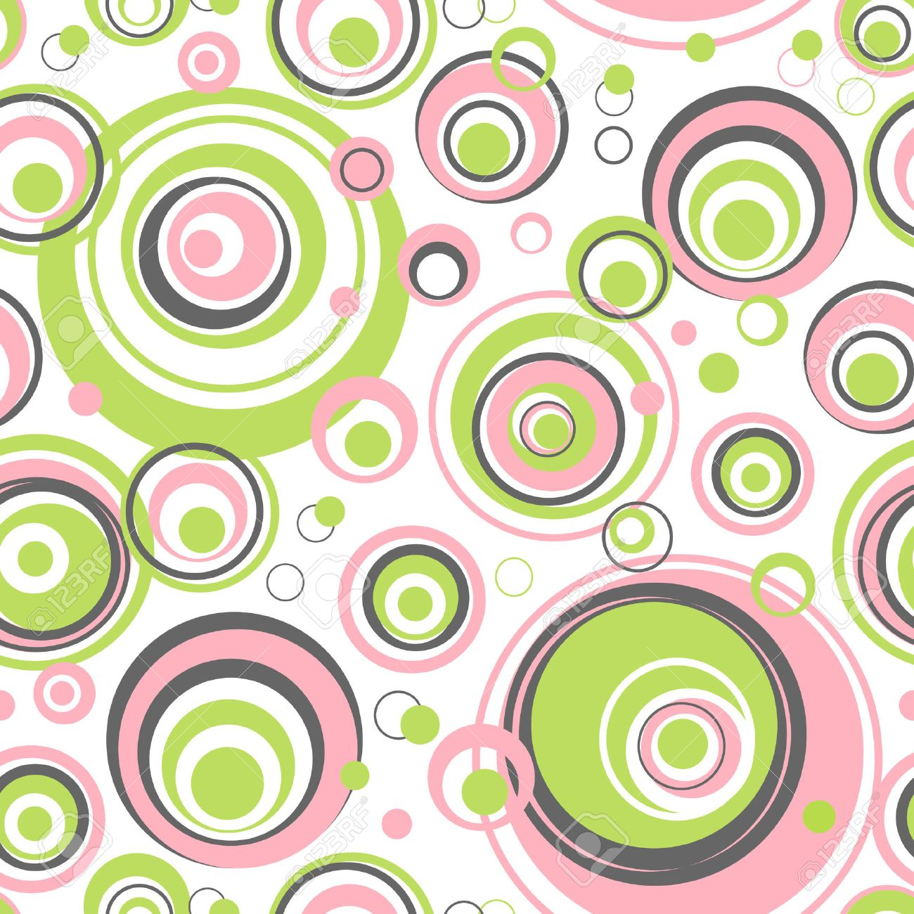 Circles seamless pattern - Vector background for continuous replicate. See more seamless patterns in my portfolio. - 8568749