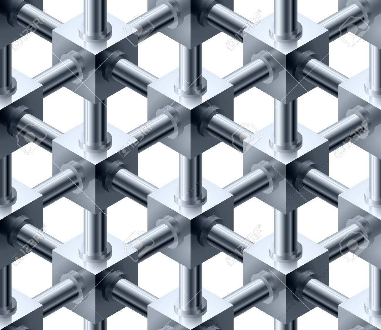 Crystalline cubes seamless pattern - vector background for continuous replicate. See more seamlessly backgrounds in my portfolio. Stock Vector - 10273364