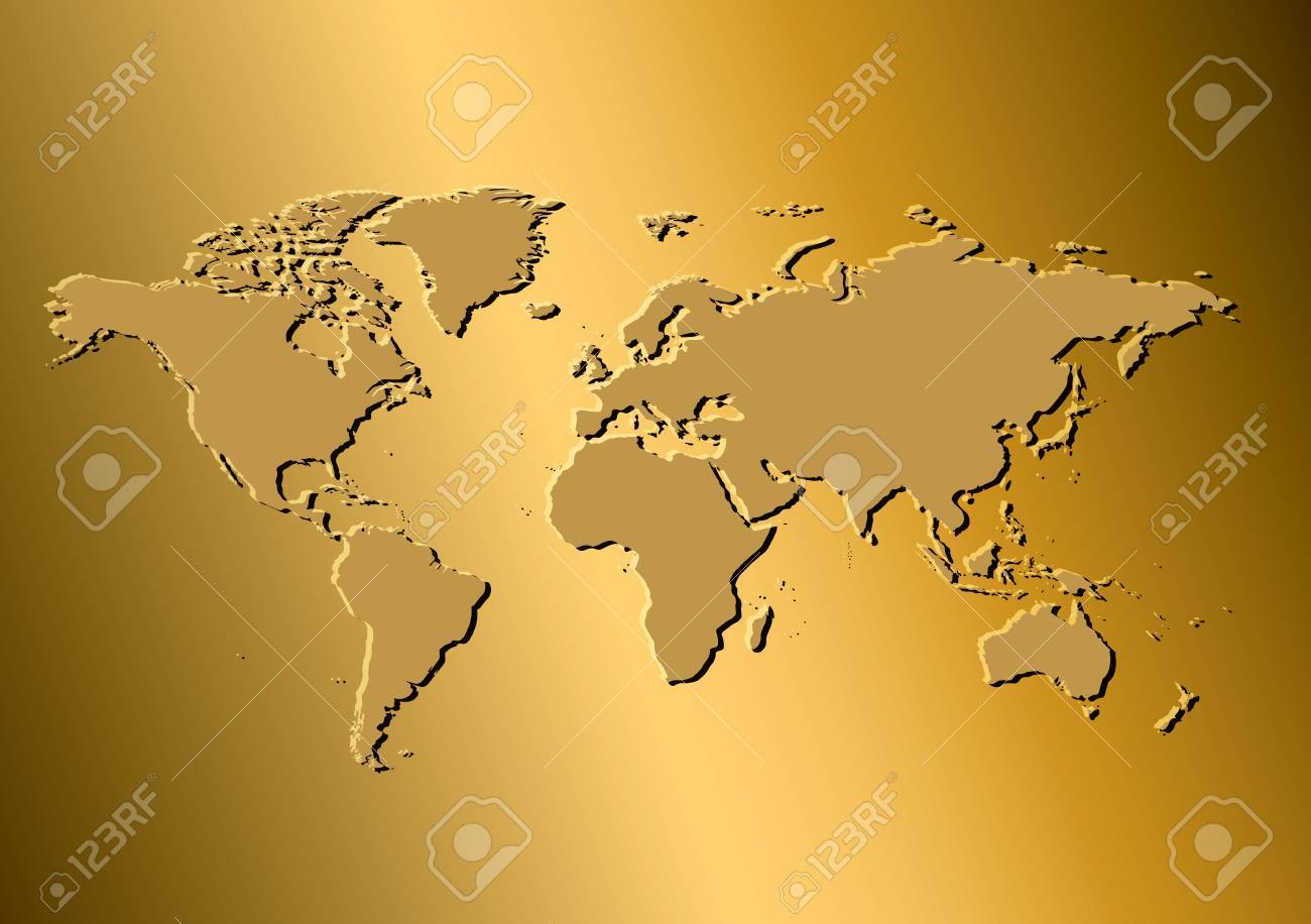 A golden background with map of the world vector template a golden background with map of the world vector template eps in cmyk gumiabroncs Gallery