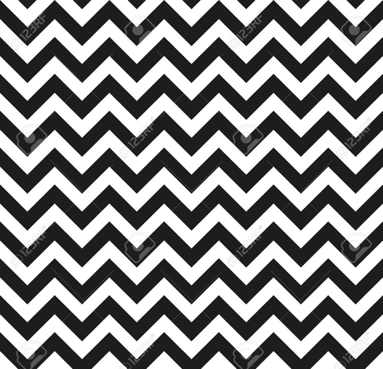 Chevron Zickzack Schwarz Weiß Schwarz Weiß Muster Nahtlose Textur