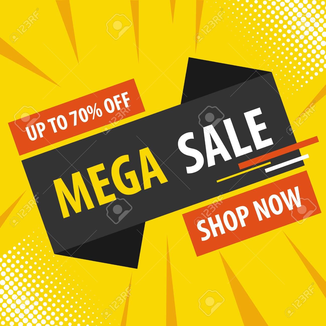 Online sale, discounts on goods. Vector, cartoon illustration. Vector - 134878465