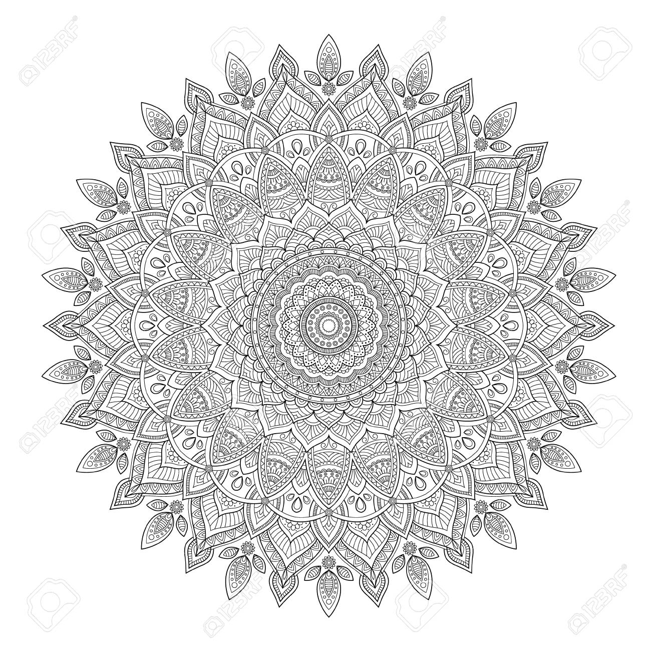 Zentangle Background Wallpaper Texture Pattern Round Mandala Template For Web Design