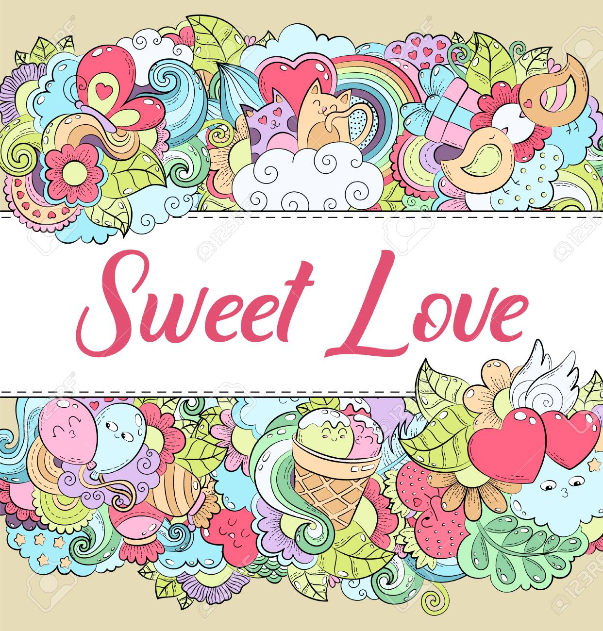 Romantic Background Wallpaper Texture Postcard Card Template