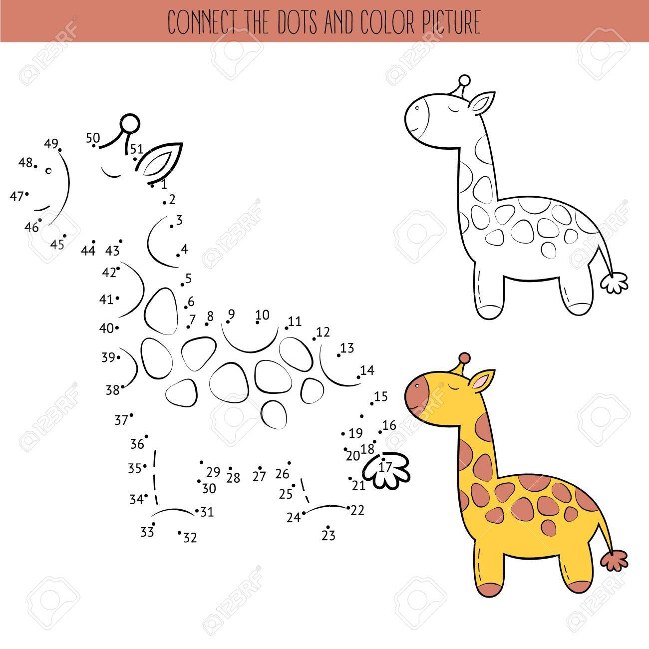 Coloring Book And Dot To Dot Educational Game For Kids Connect