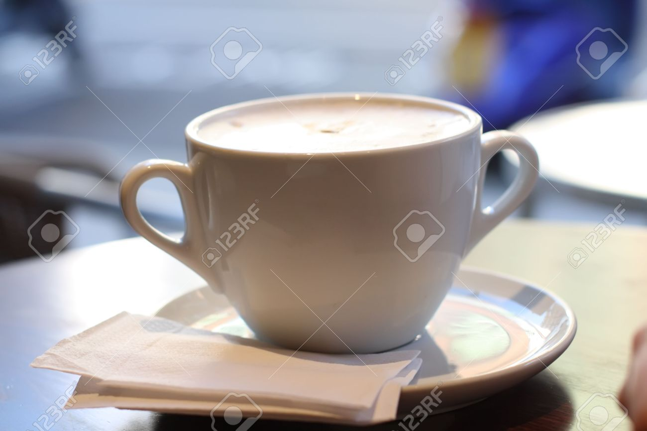 Große Tasse Kaffee Im Retro-Stil Farben, Spezielle Retro-Stil ...