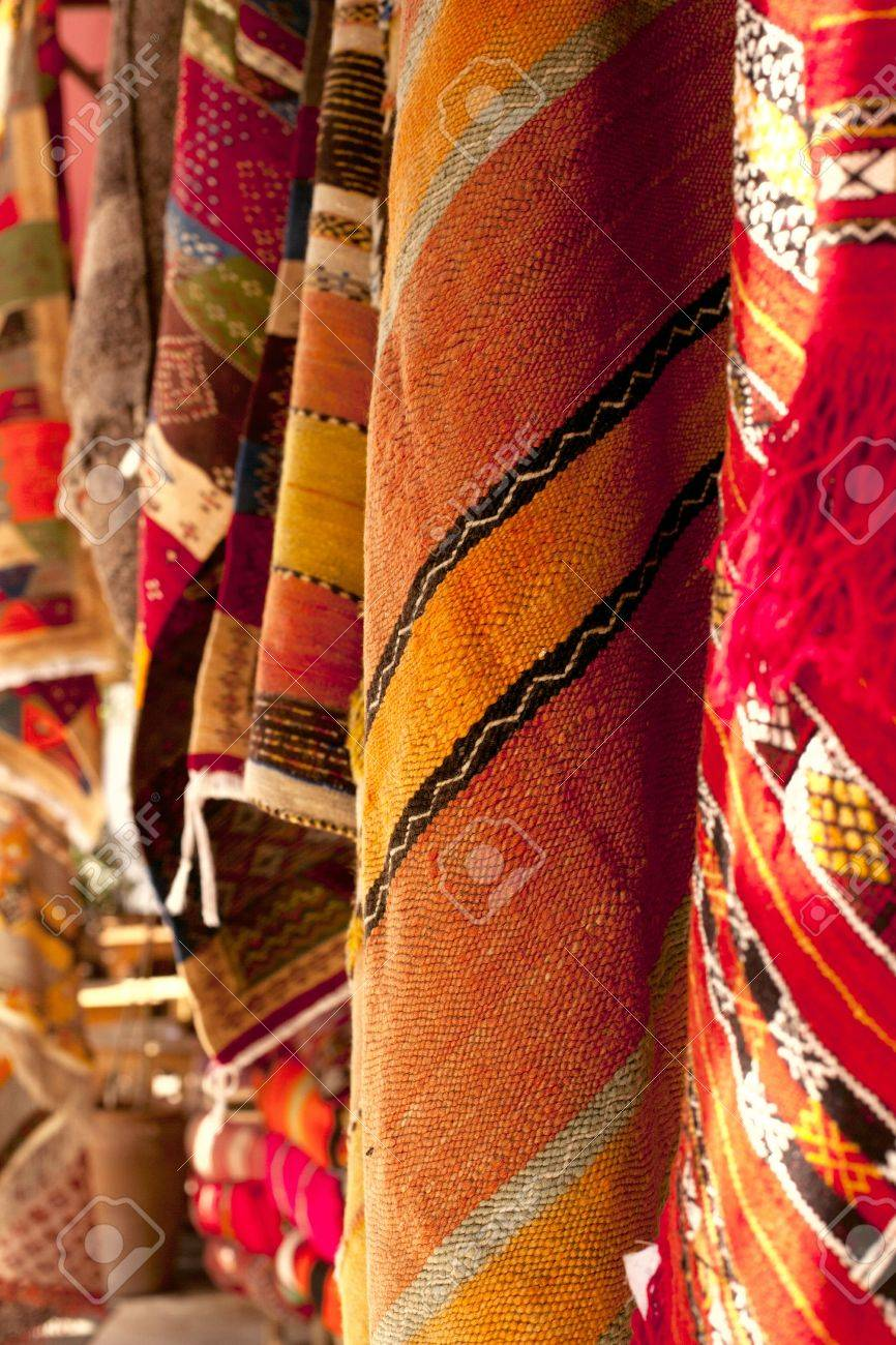 Moroccan Carpets in a street shop souk Stock Photo - 9355809