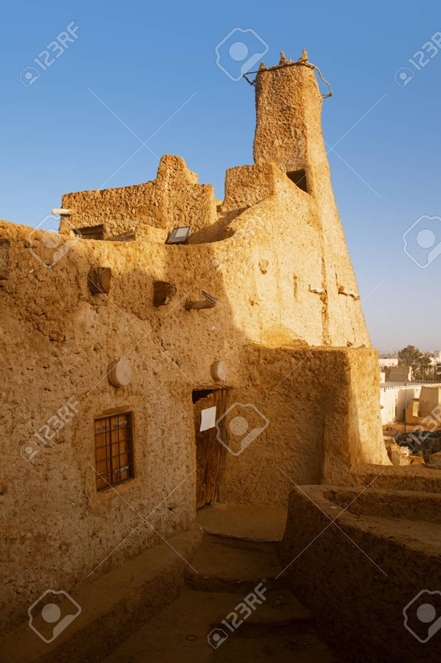 Old Mosque of Shali Fortress  ( Shali ) in Siwa oasis Stock Photo - 12405057