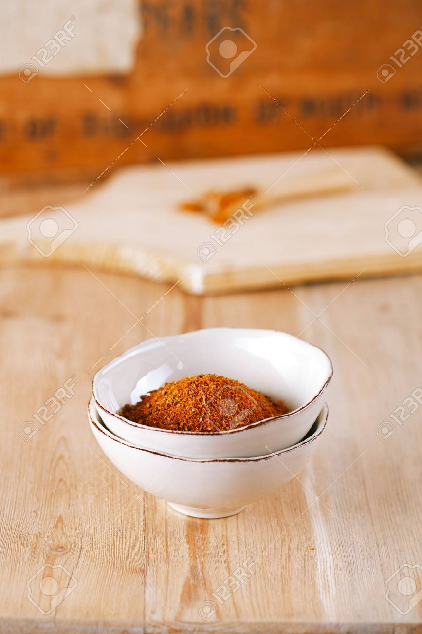 spices Chicken BBQ Rub mix of Herbs, shallow dof Stock Photo - 18099133