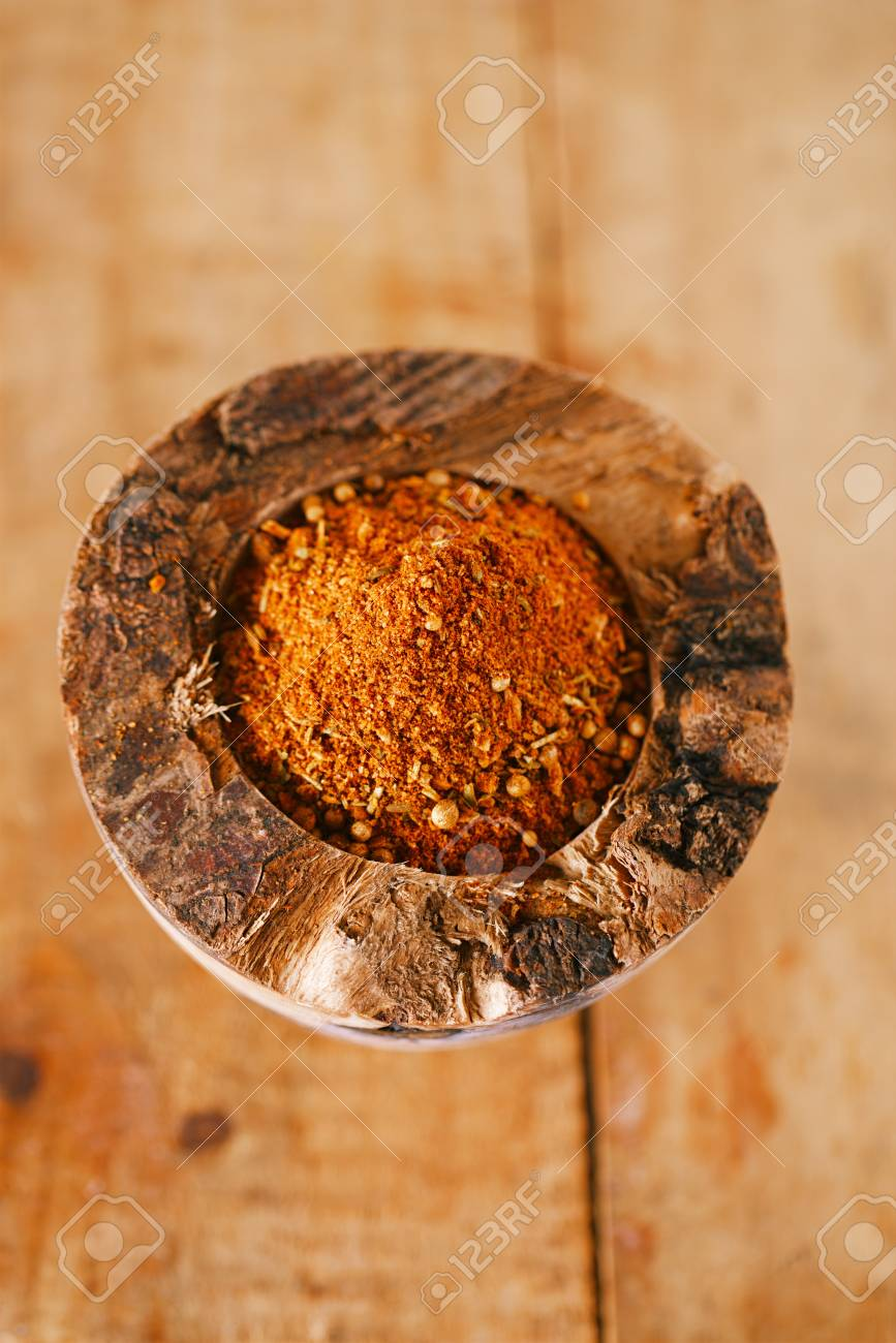 spices Chicken BBQ Rub mix of Herbs, shallow dof Stock Photo - 18099136