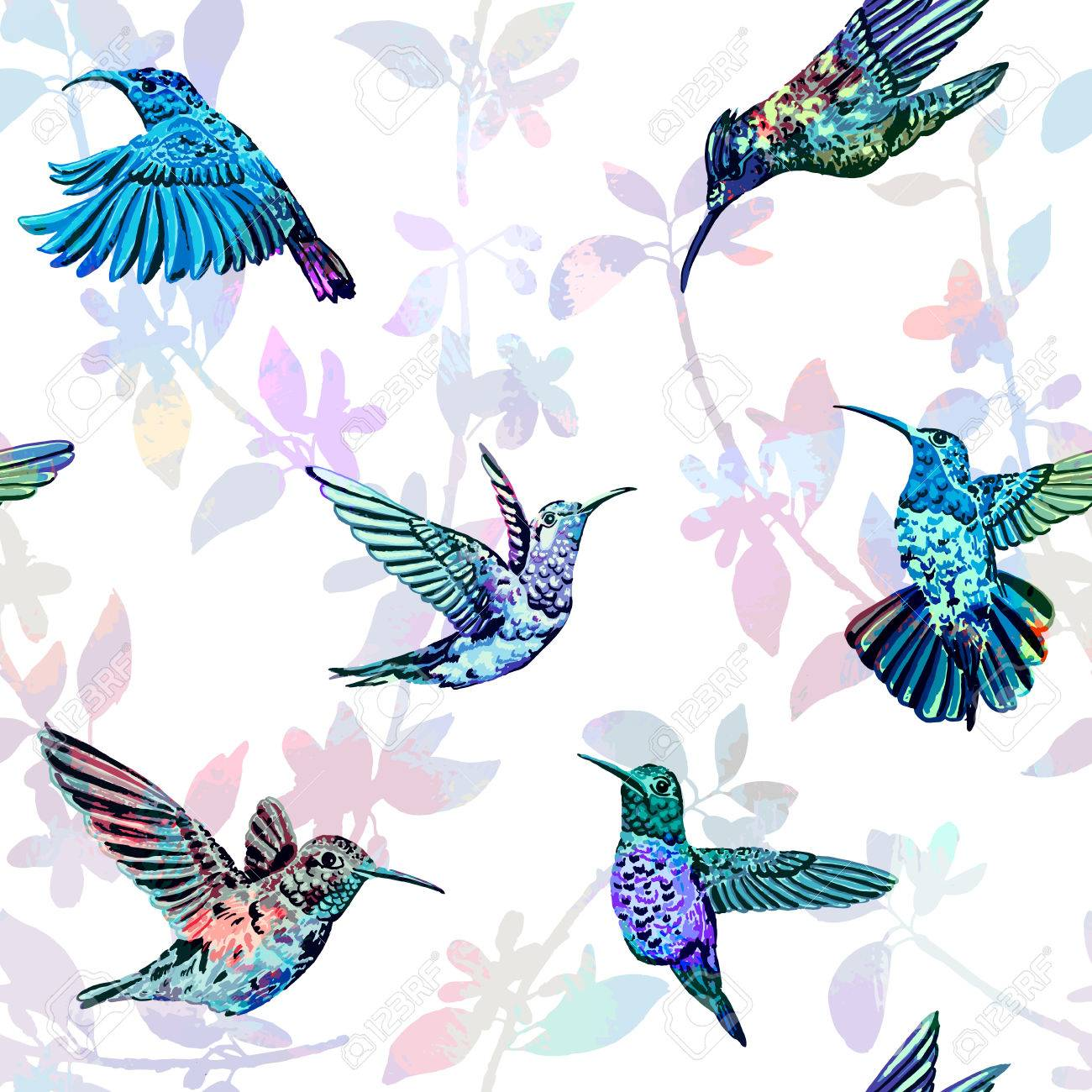 Beautiful colorful tropical endless background for different projects. - 48928187