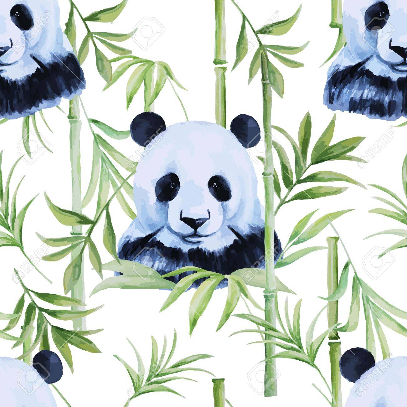 Panda, bamboo seamless pattern for different projects. - 51523050