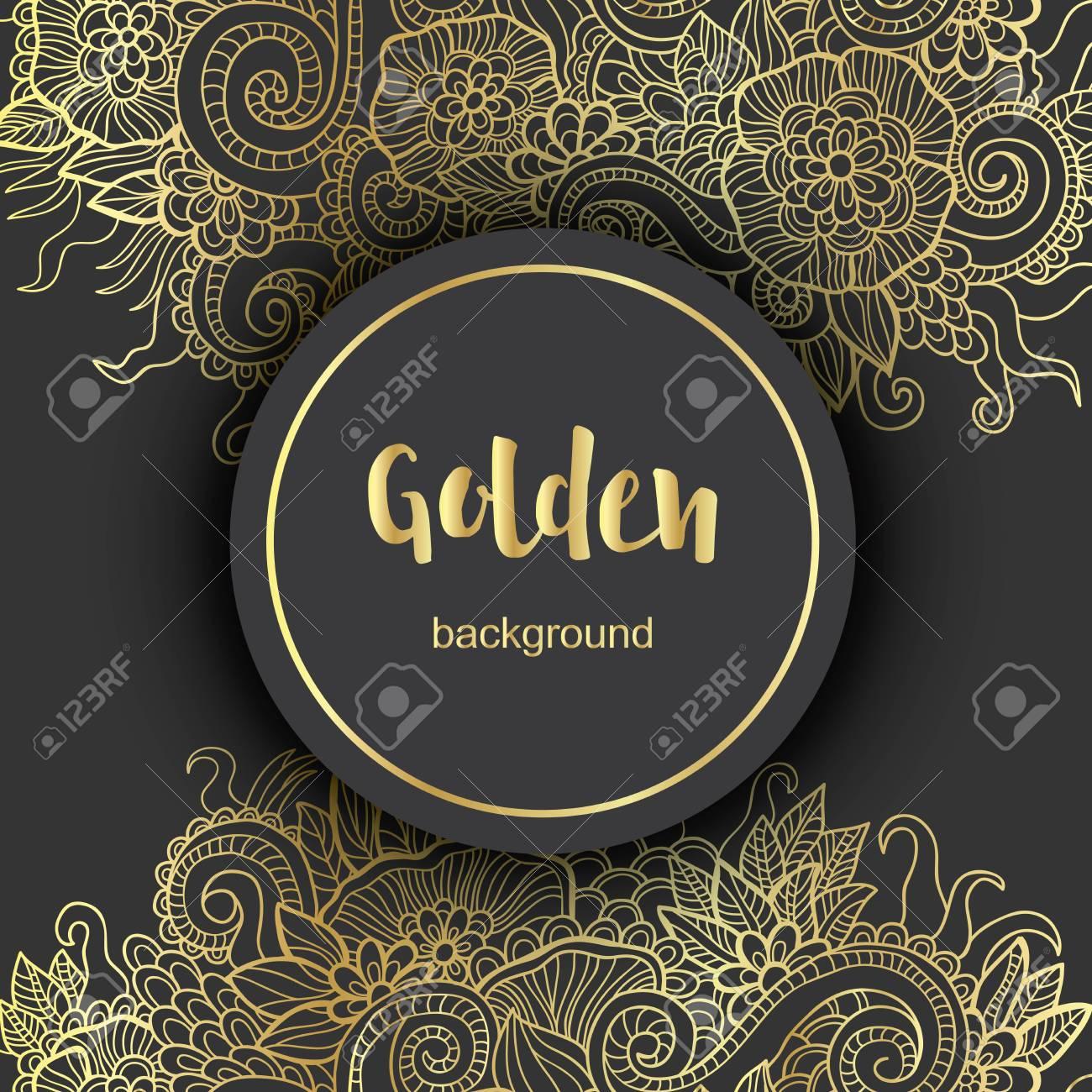 Luxury Golden Modern Background or Card. - 52953519
