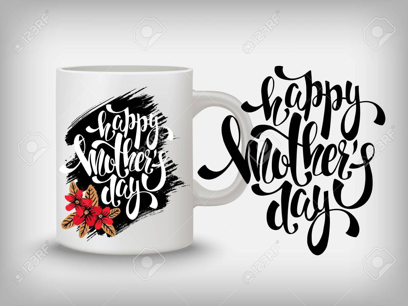 Creative background with slogan for card, invitation, gift for mothers. - 55155906