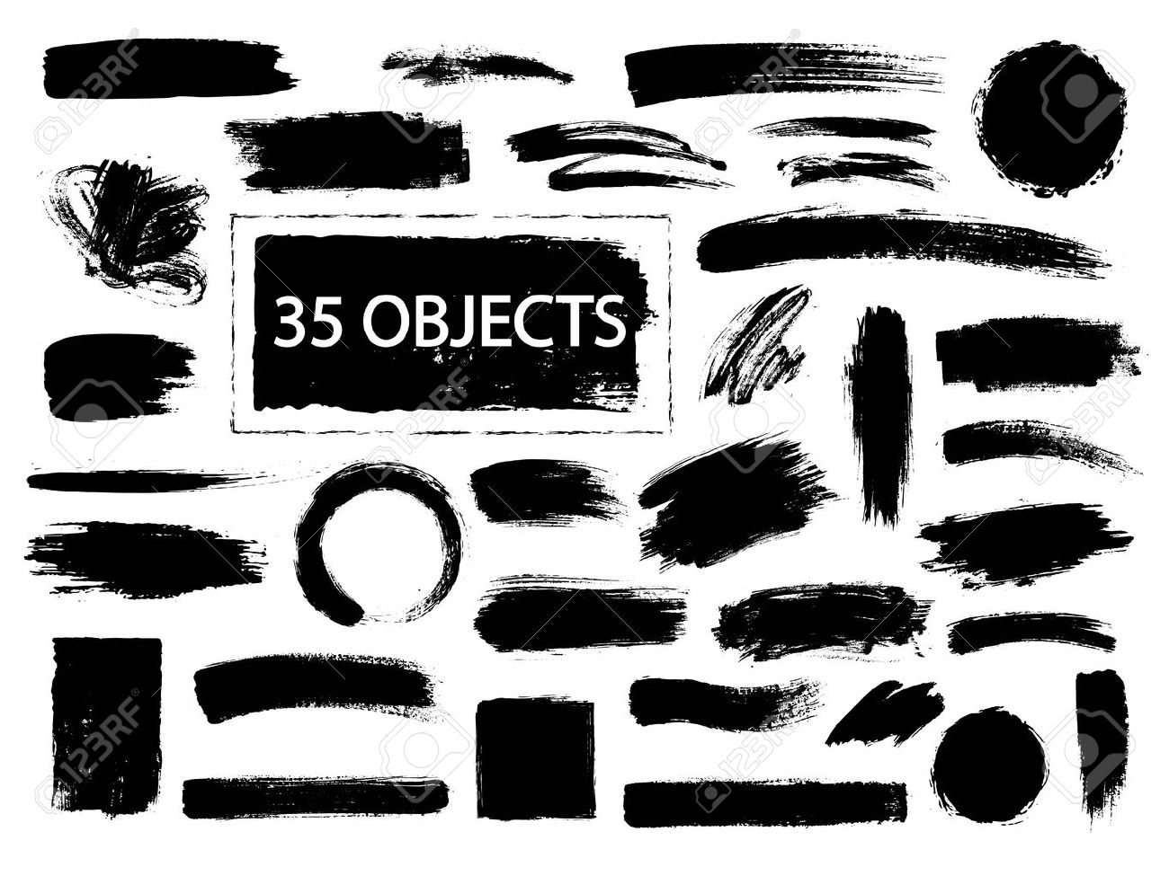 Collection of hand drawn creative design elements - 55496100