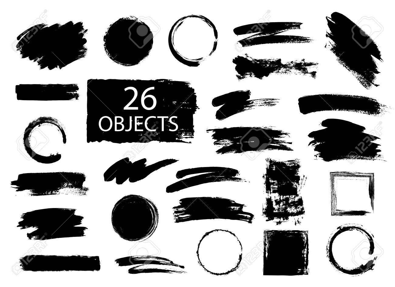 Hand drawn collection of universal uses forms for diferent projects. - 62012792