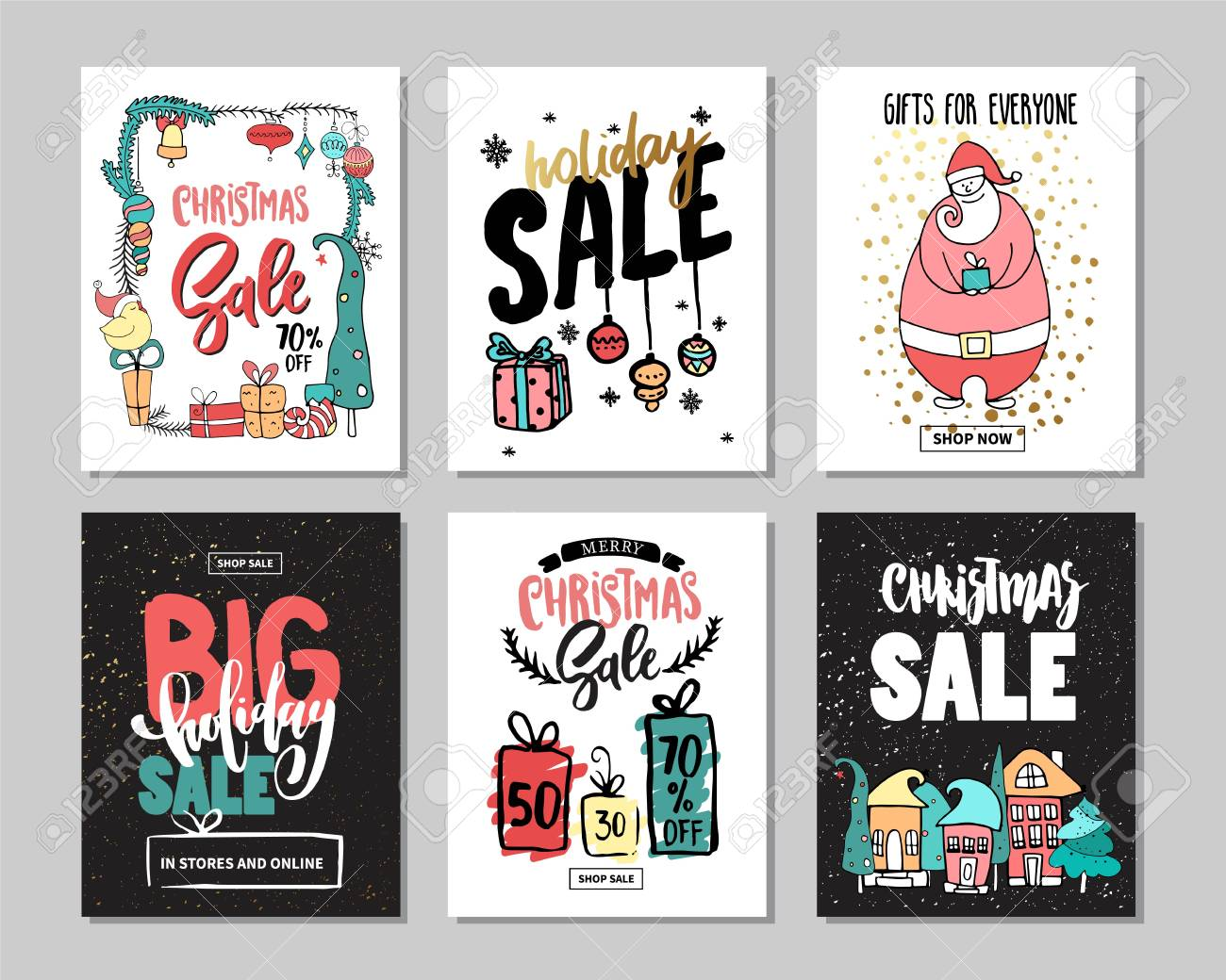 Set Of Creative Sale Holiday Website Banner Templates. Christmas ...