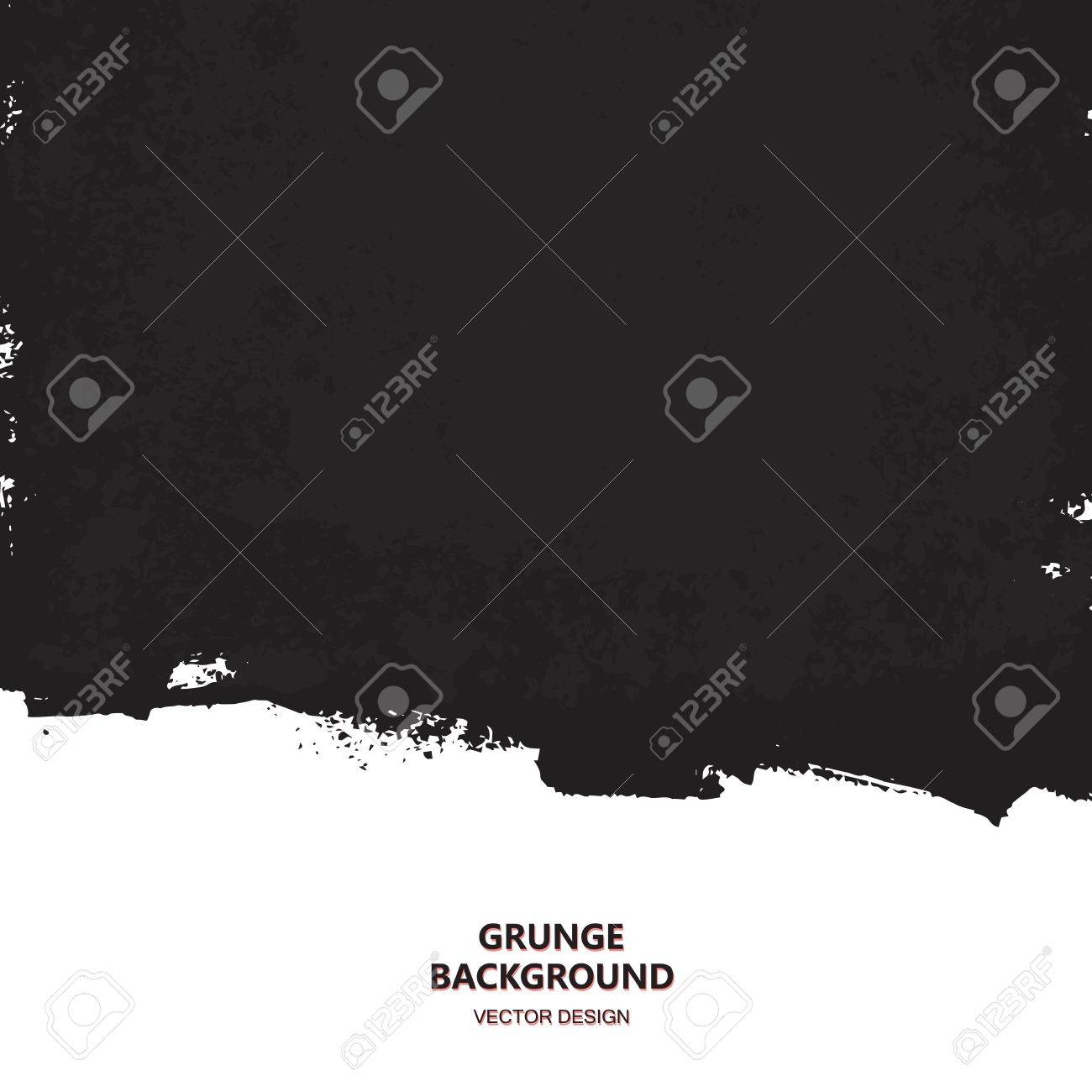 Black paint design element, place for text information, quote. Dirty grunge background. - 67323248