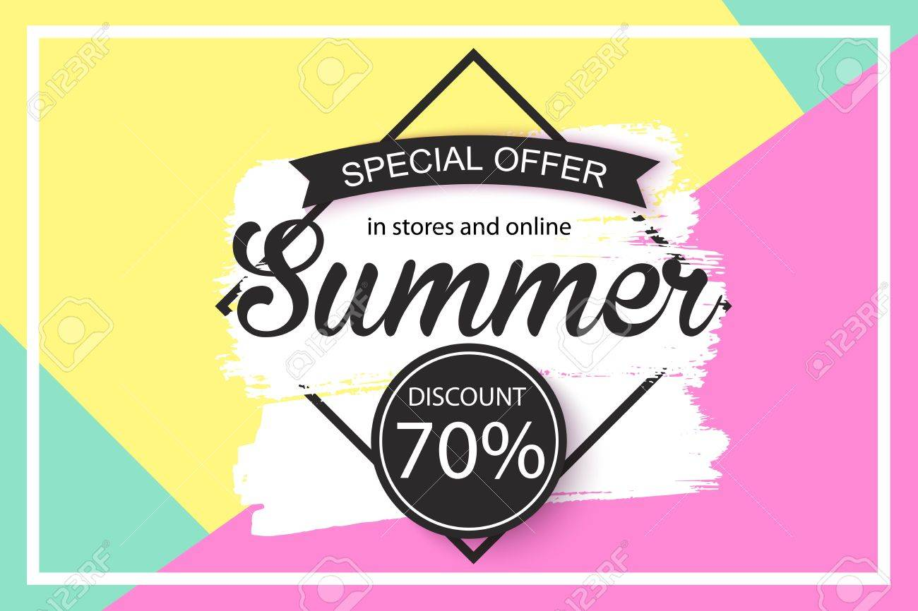 Universal Sale Background Design For Banner Flyer Wallpaper Promotional Discount Shop Materials