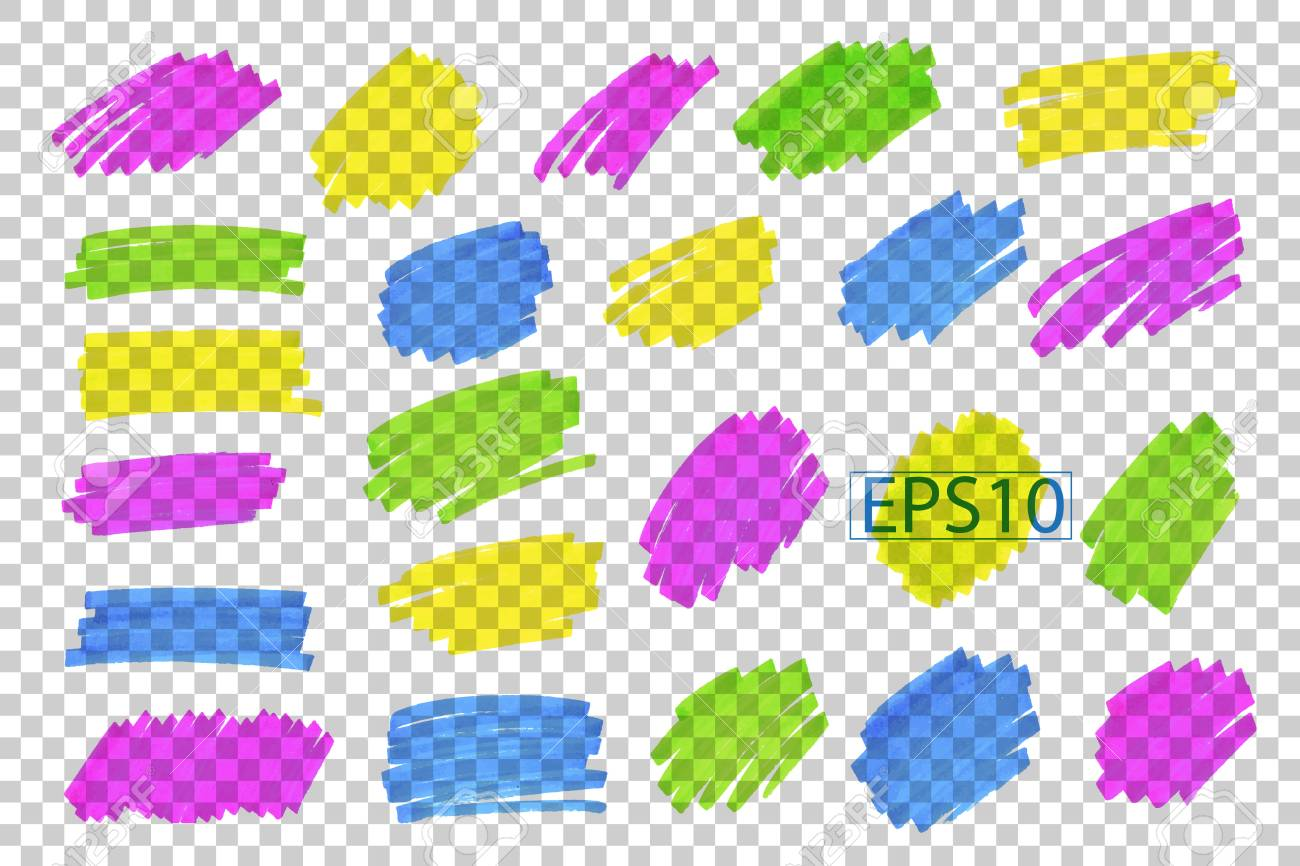 Color highlight stripes, strokes, marks. - 87875512
