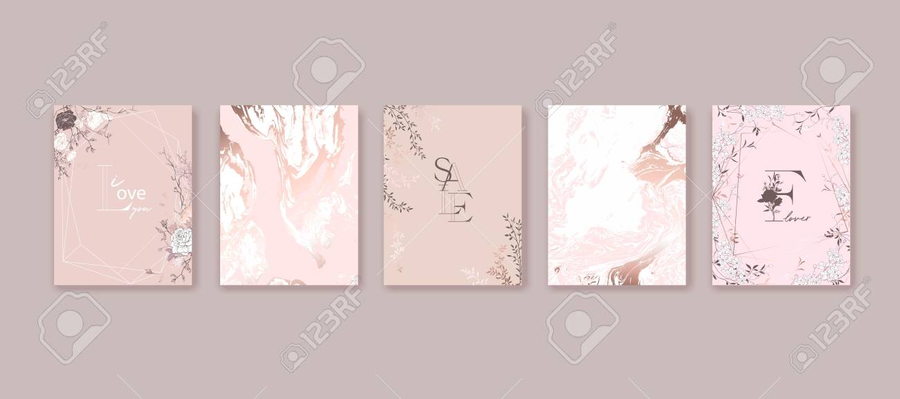 Floral frame design. Hand drawn flowers, roses, leaves. Composition for card, invitation, save the date. - 121696946