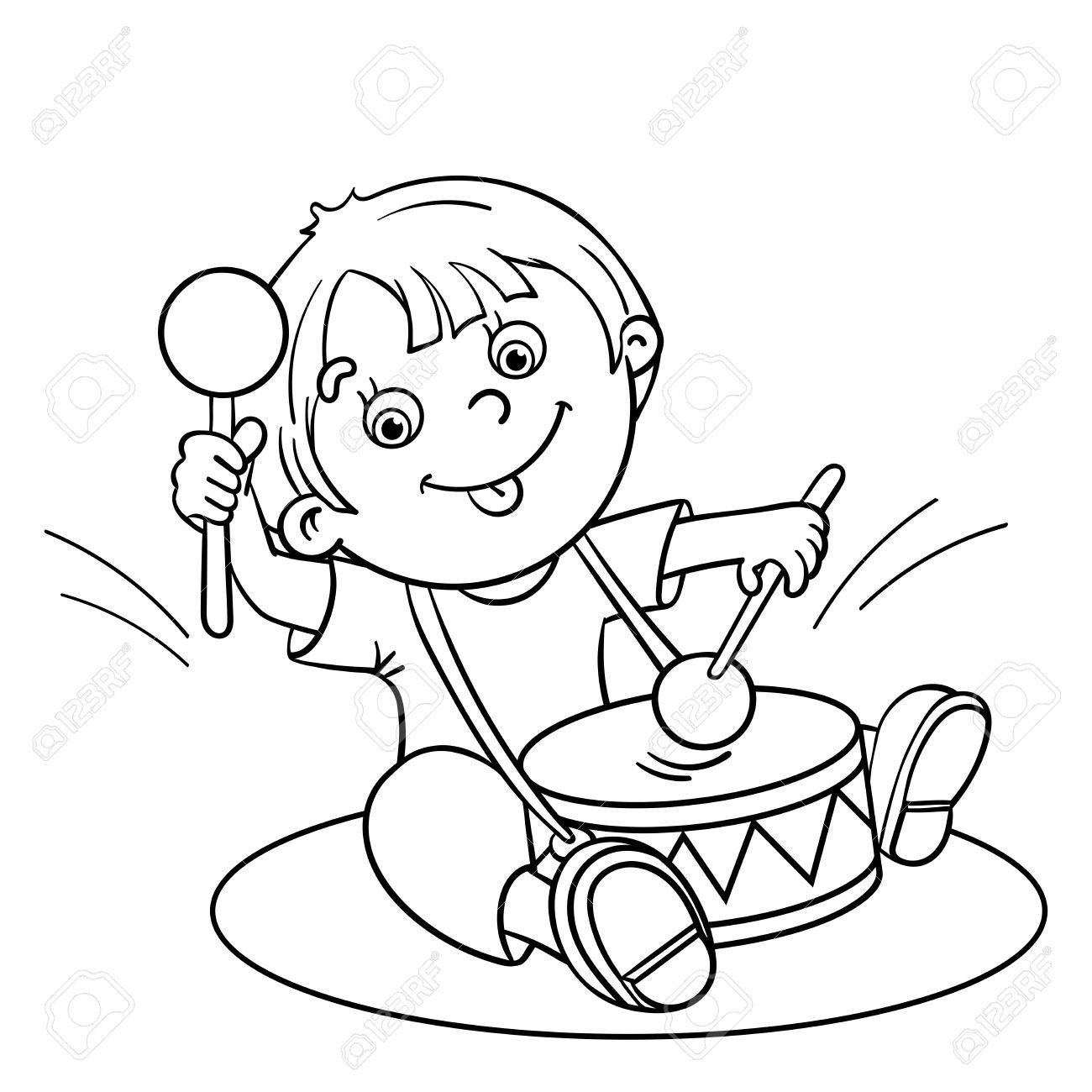 Malvorlagen Umriss Eines Cartoon Glucklich Junge Spielt Die Trommel Lizenzfrei Nutzbare Vektorgrafiken Clip Arts Illustrationen Image 46669981