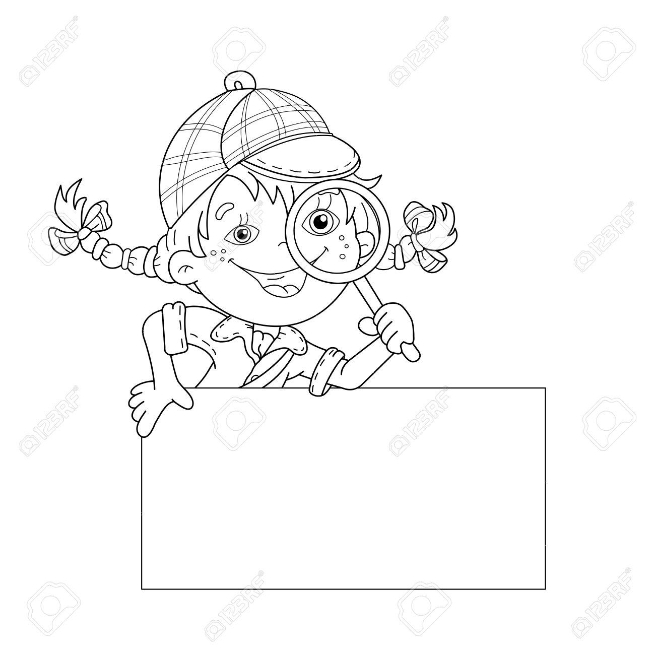 Pagina Para Pintar Dibujos. Caricatura De Vector Escala A Cualquier ...