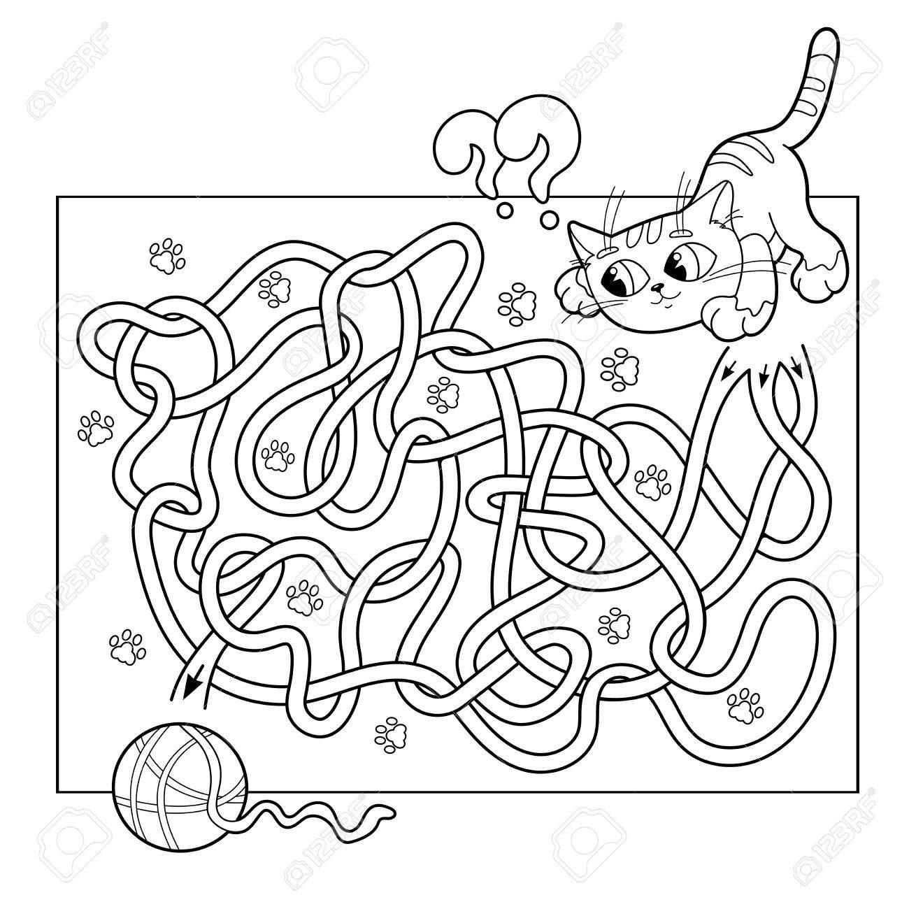 Ilustración Vectorial De Dibujos Animados Del Laberinto De La