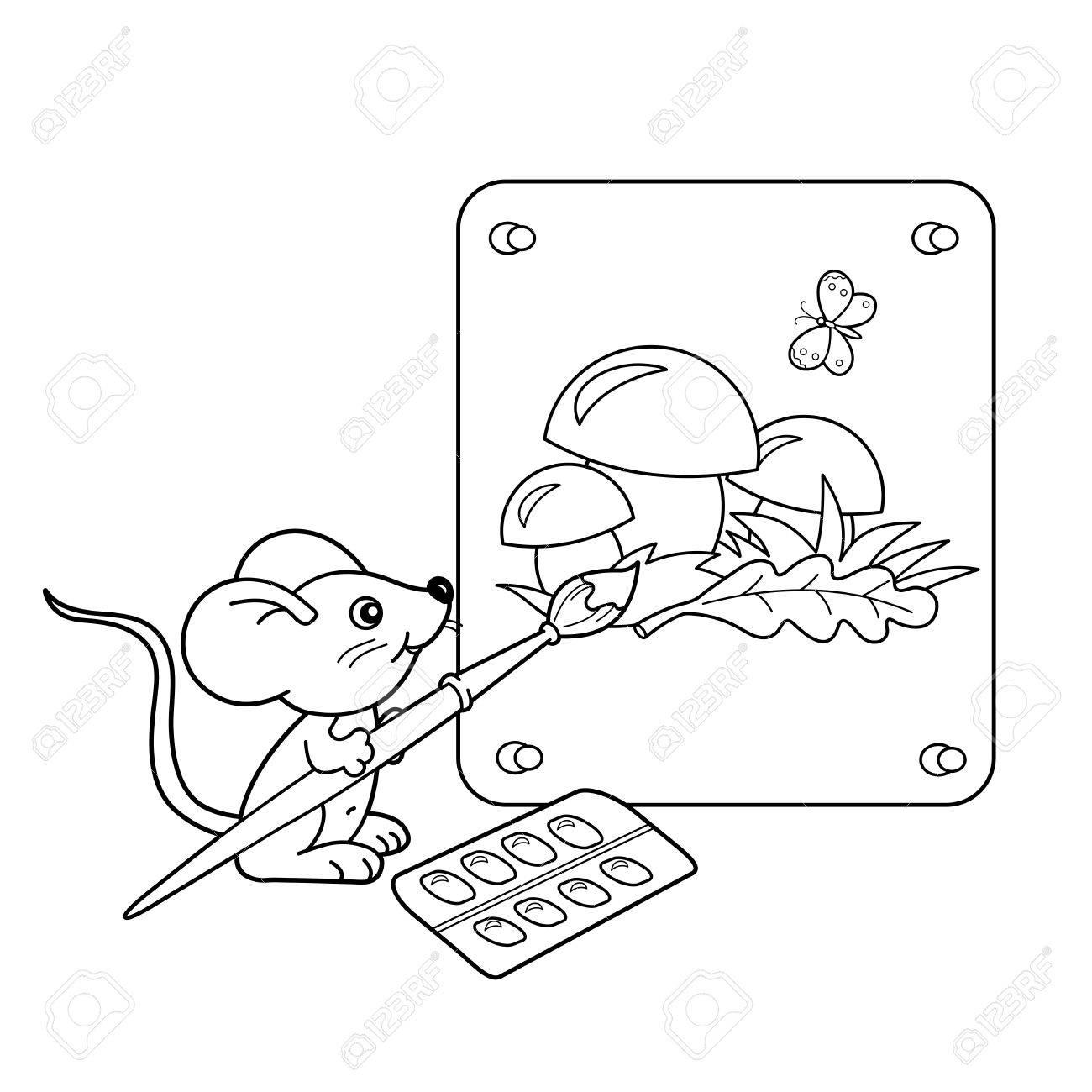 Fein Maus Färbung Seite Zeitgenössisch - Malvorlagen Von Tieren ...