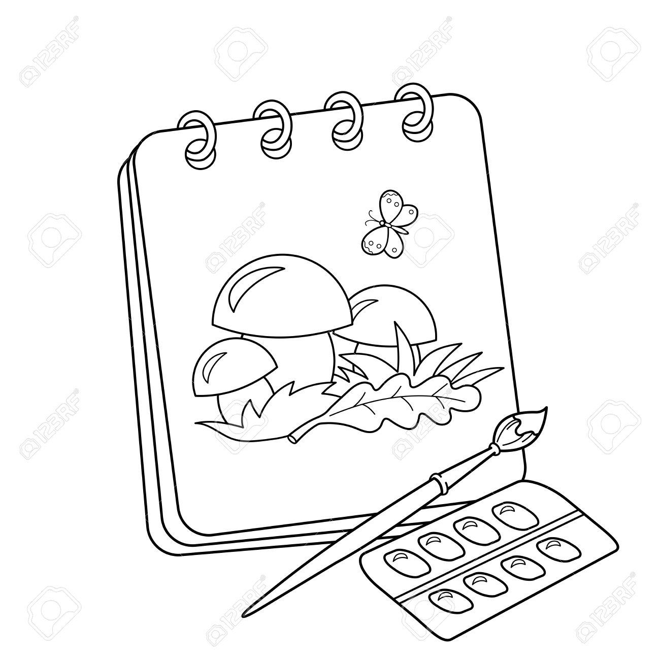 Pagina Para Colorear Esquema Del Album De Dibujos Animados O