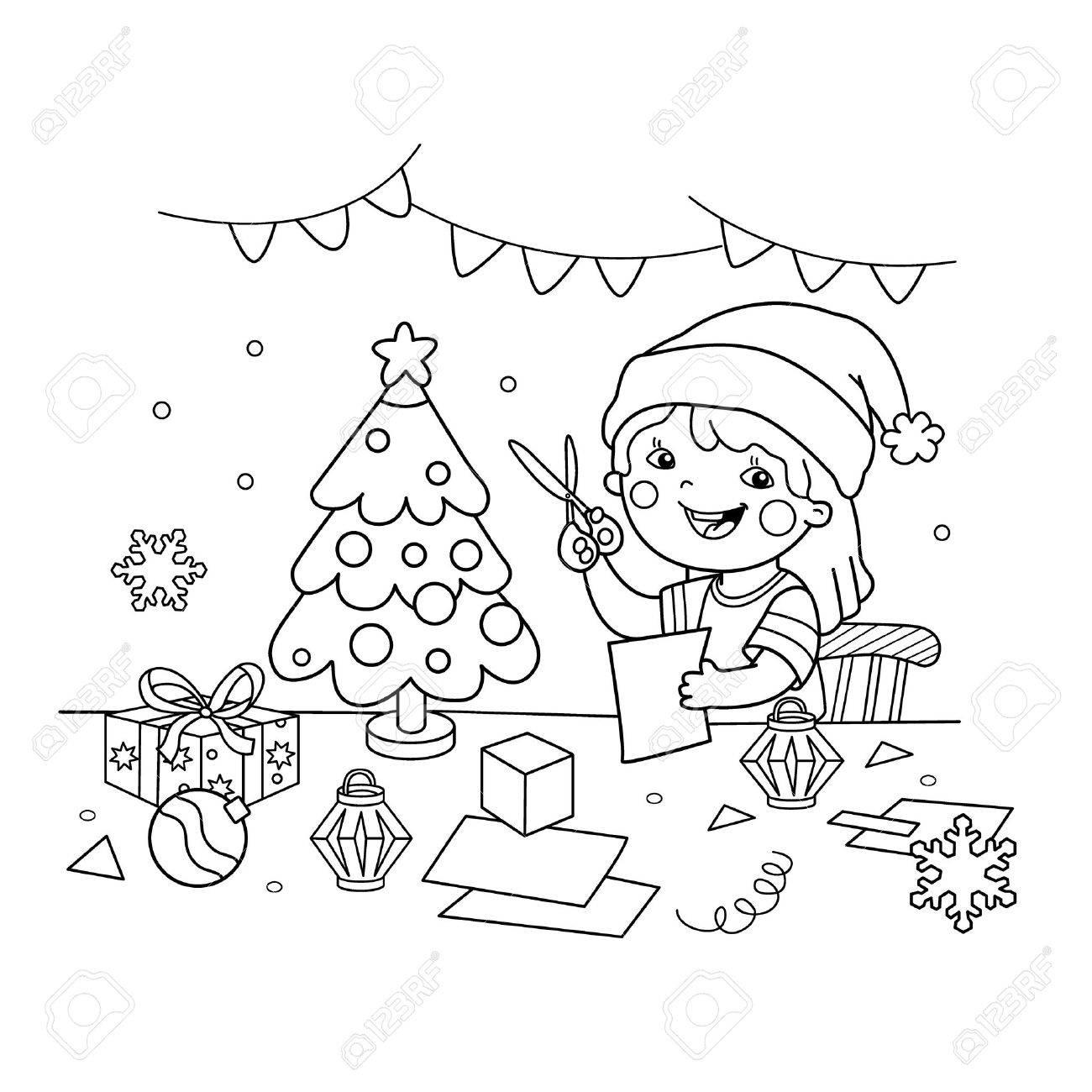 Dibujos Animados Para Colorear Navidad Imagesacolorierwebsite