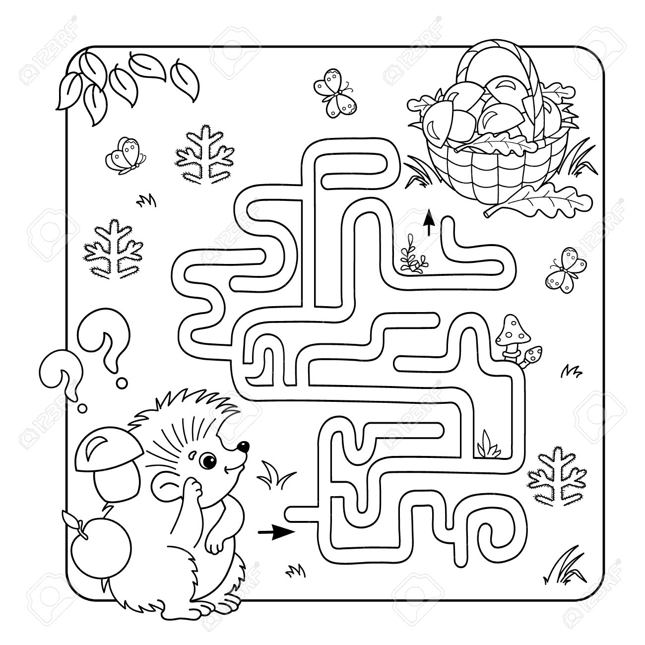 Cartoon Vector Illustration Of Education Maze Or Labyrinth Game ...
