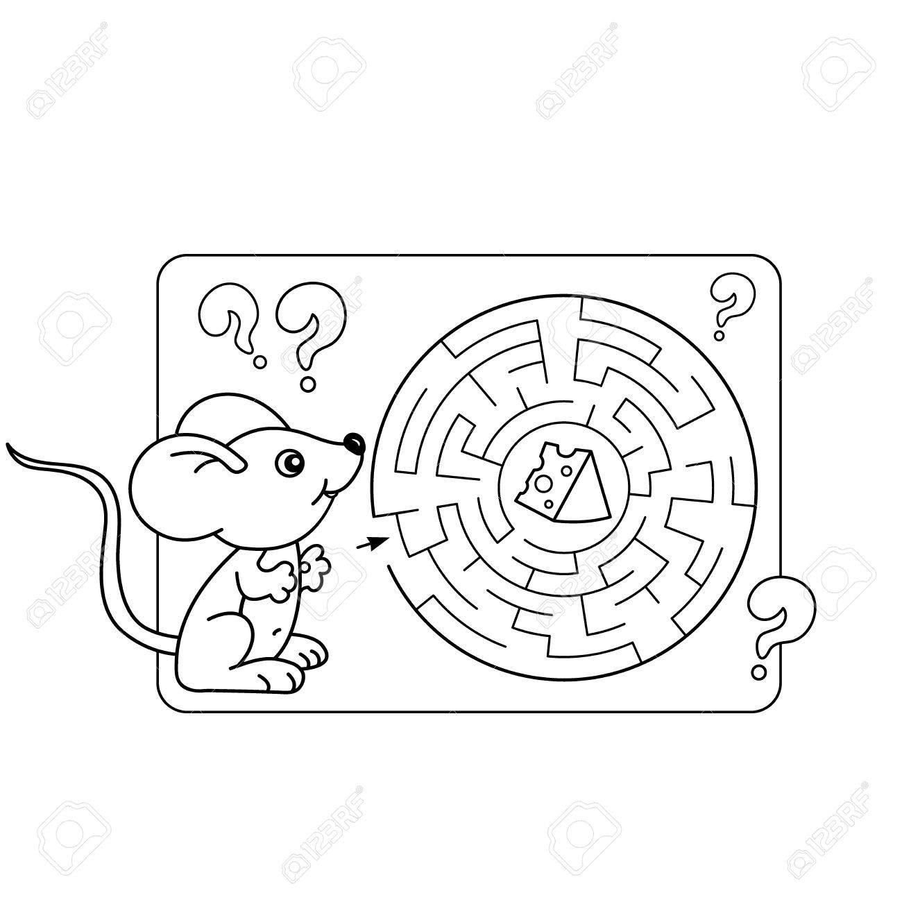 Vettoriale Vector Cartoon Illustrazione Di Educazione Labirinto O