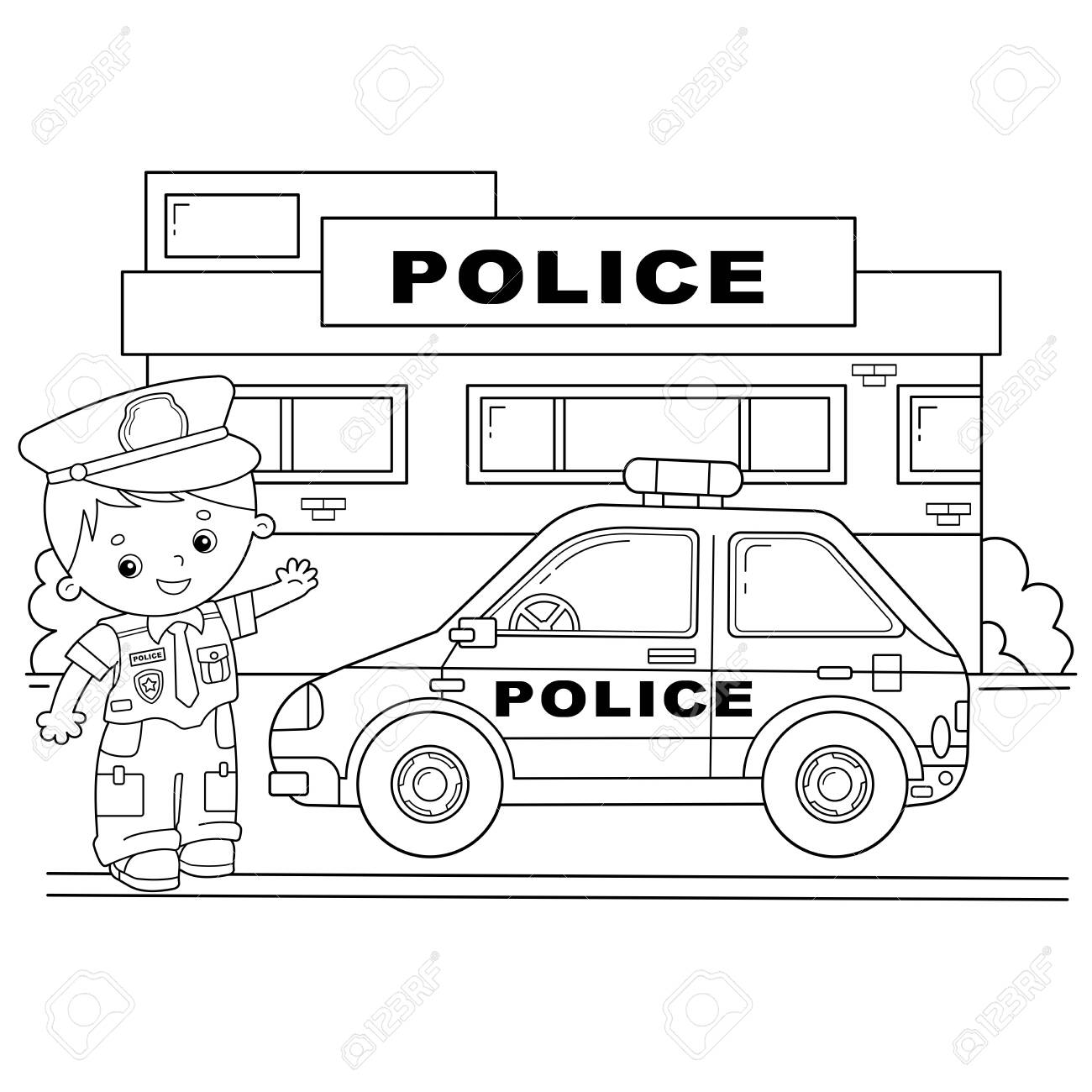 Police Car Coloring Pictures For Kids Tag: 21 Police Officer ... | 1300x1300