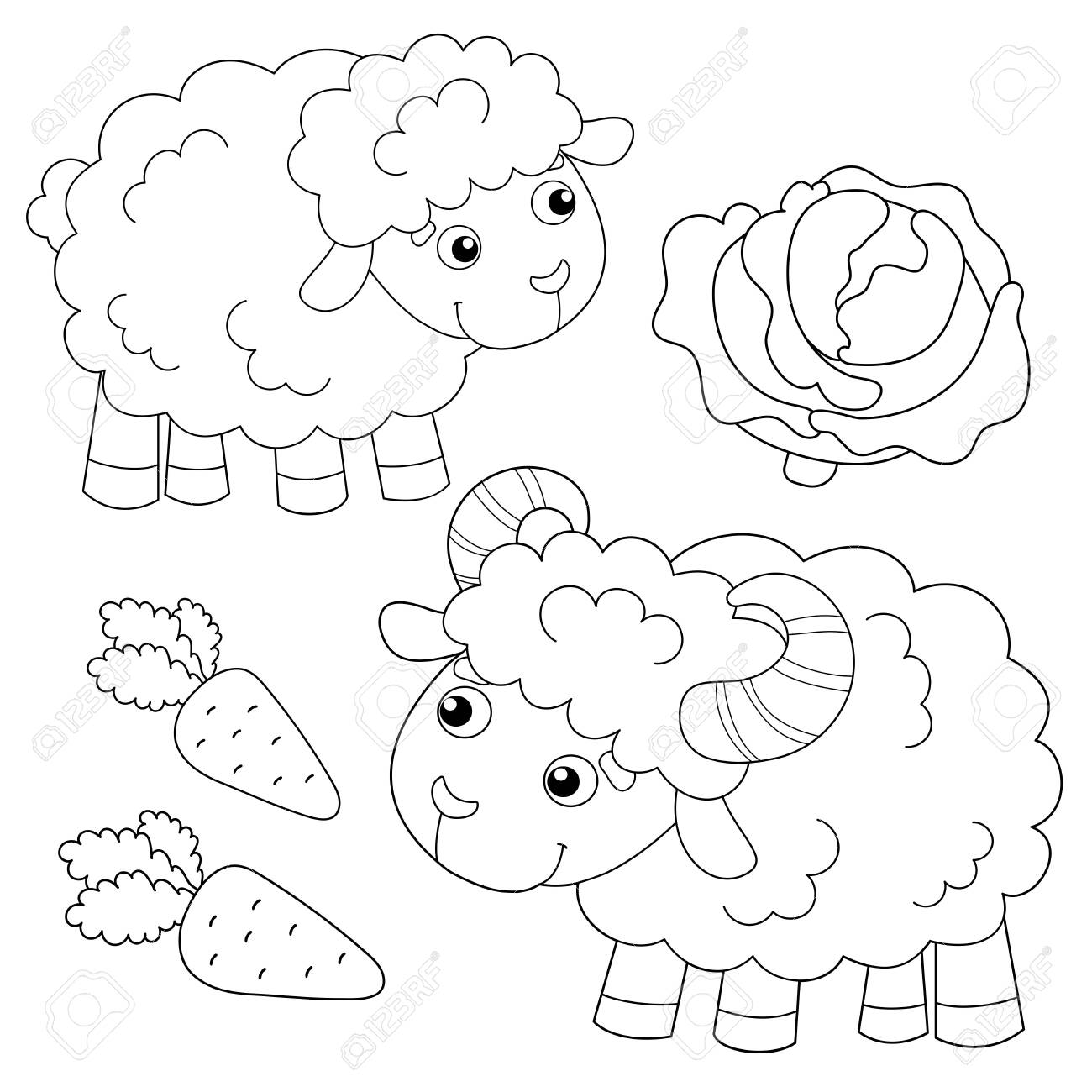 Farm Animals Coloring Pages and Printable Activities 1 | 1300x1300