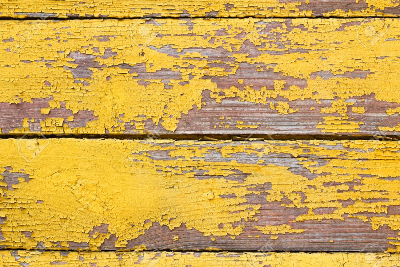 Old Wooden Shabby Yellow Background Or Texture, Part Of Rustic ...