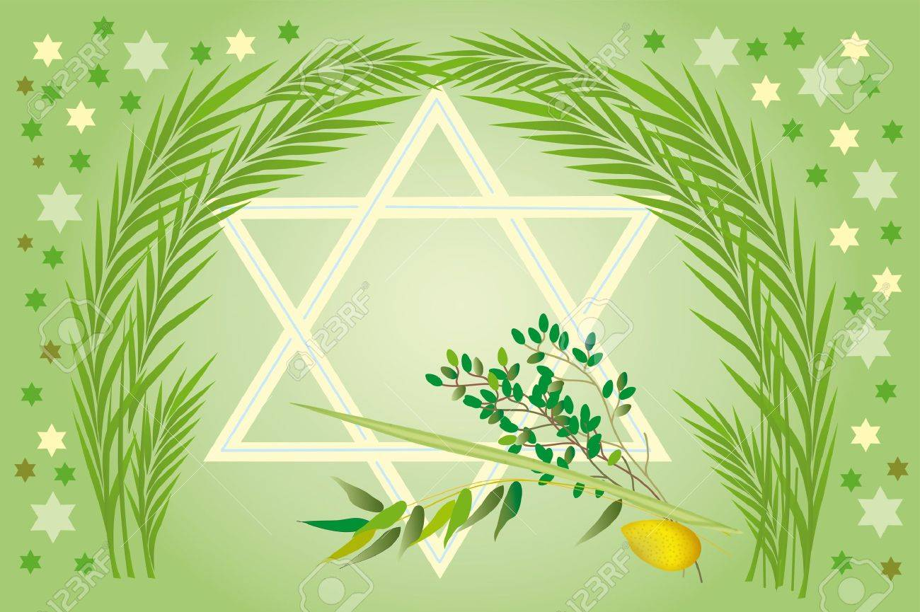It is accepted to give all four types of plants, each of which symbolizes the certain type of people. Lulav and Etrog Stock Photo - 9591468