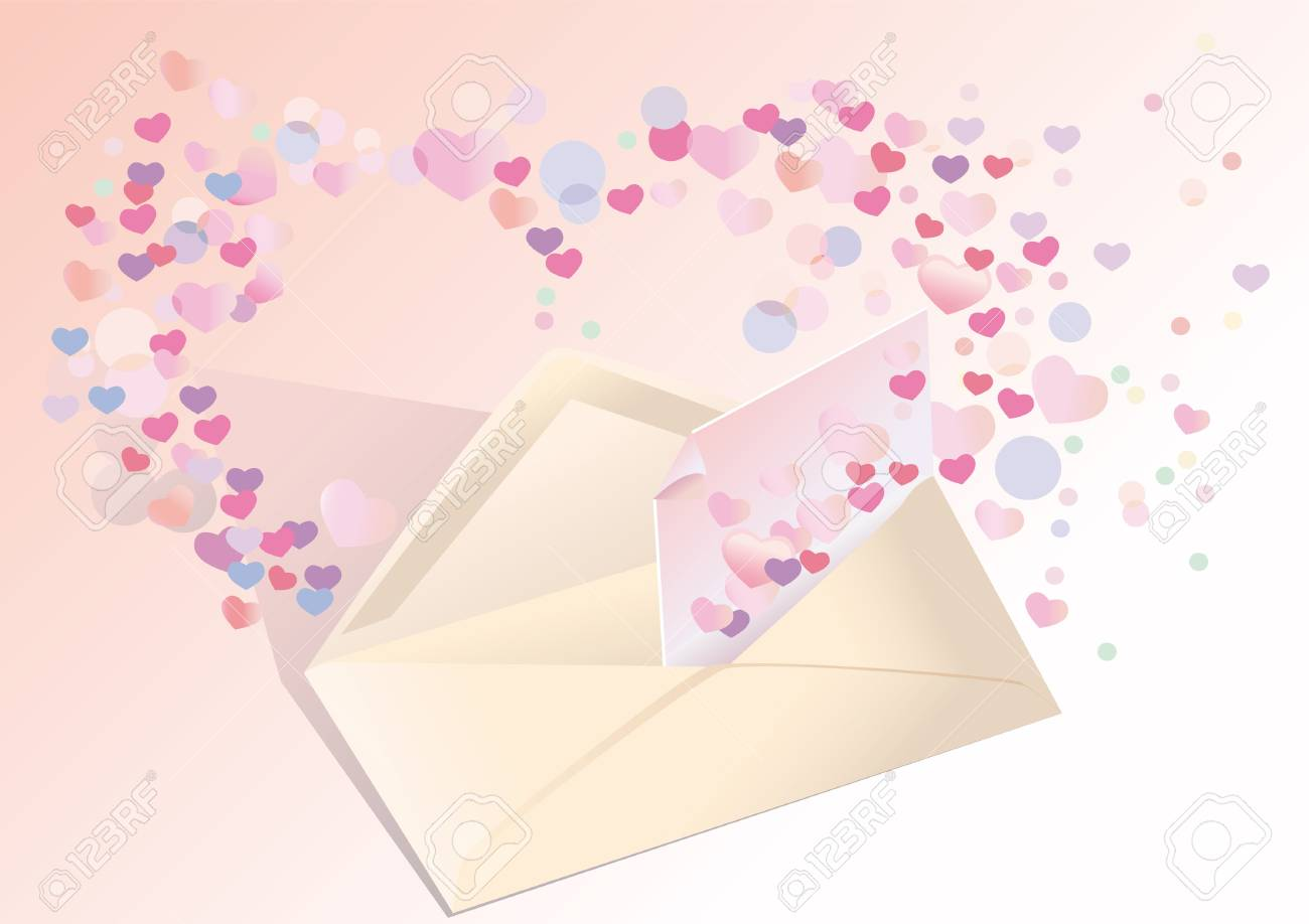 Exposed envelope with a love Stock Photo - 10577132