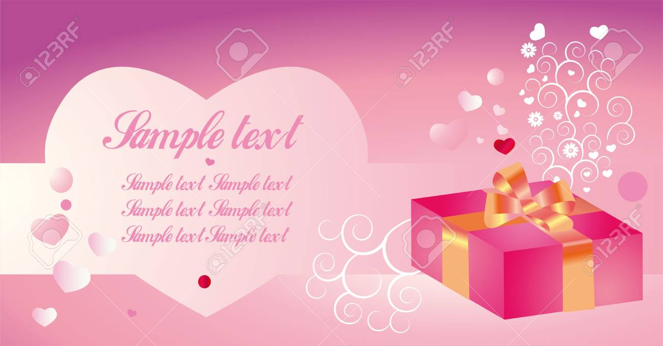 Background for congratulation to the day of sainted Valentine, birthday, wedding Stock Photo - 11449706