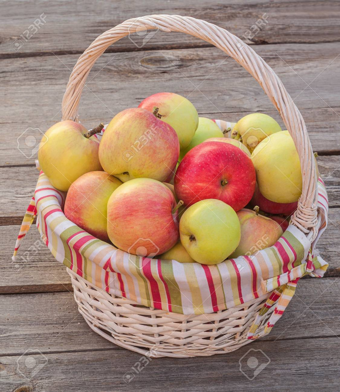 the basket of apples