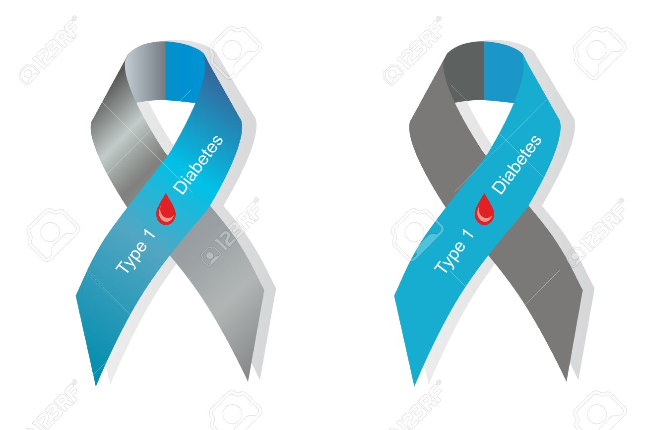 Gray and blue ribbon with blood drop as symbol of diabetes type gray and blue ribbon with blood drop as symbol of diabetes type 1 stock vector biocorpaavc Image collections