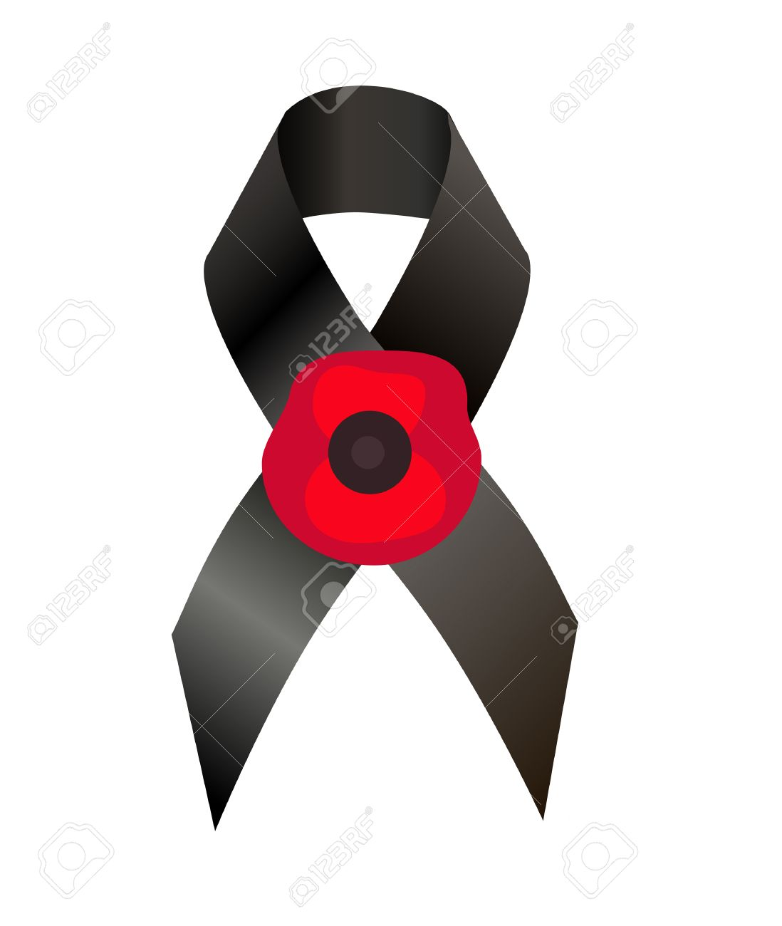 Poppy symbol of remembrance images symbol and sign ideas black awareness ribbon and the flower poppy a symbol remembrance black awareness ribbon and the flower biocorpaavc
